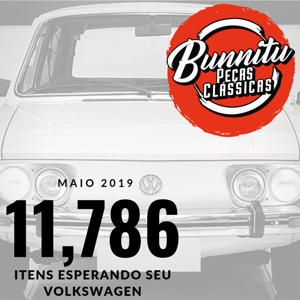 Tampa da caixa de fusíveis VW Brasília 1975 à 1979 e Kombi 1976 à 1997  - Bunnitu Peças e Acessórios