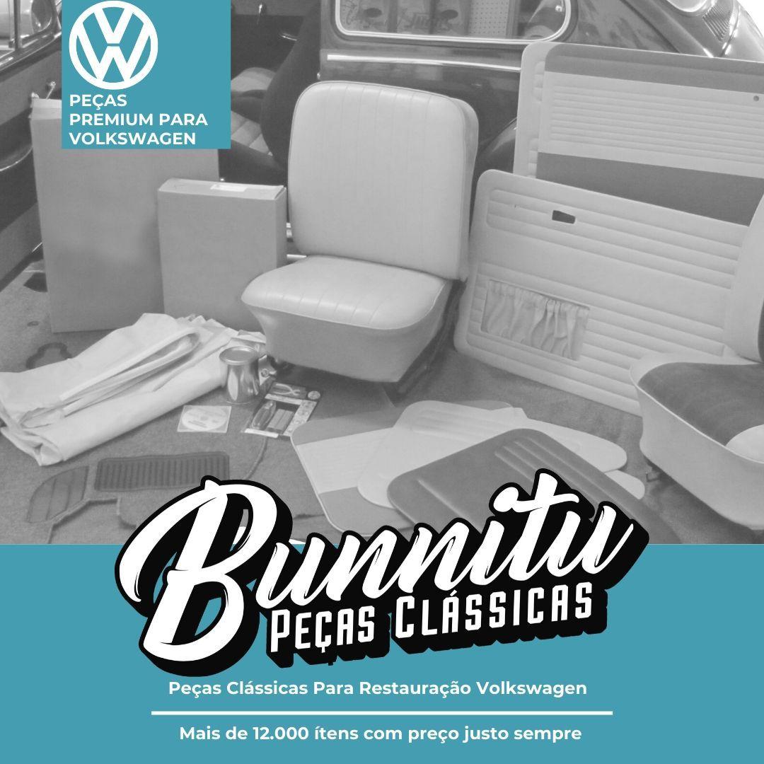 Tampão Traseiro Bagageiro Bagagito Chiqueirinho Modelo Trançado Cor Gelo VW Fusca  - Bunnitu Peças e Acessórios