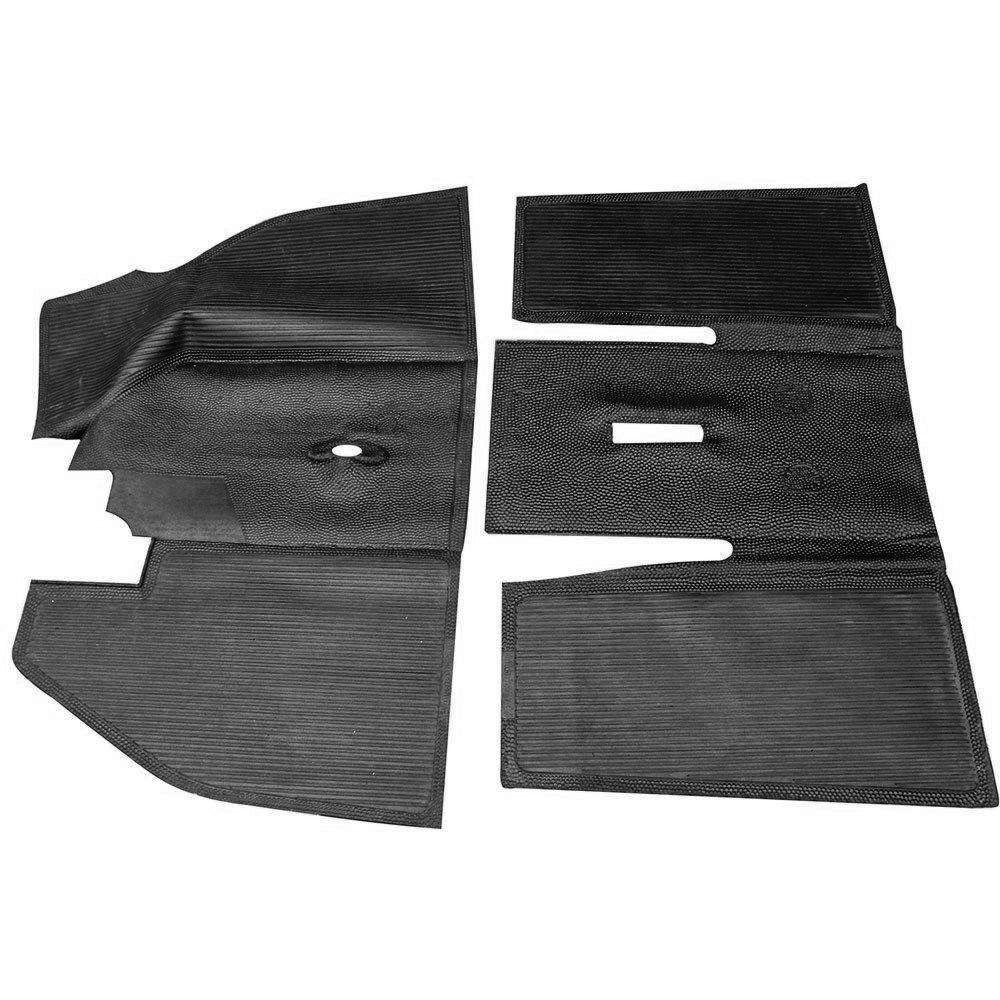 Tapete inteiriço preto original para VW Fusca - Par  - Bunnitu Peças e Acessórios