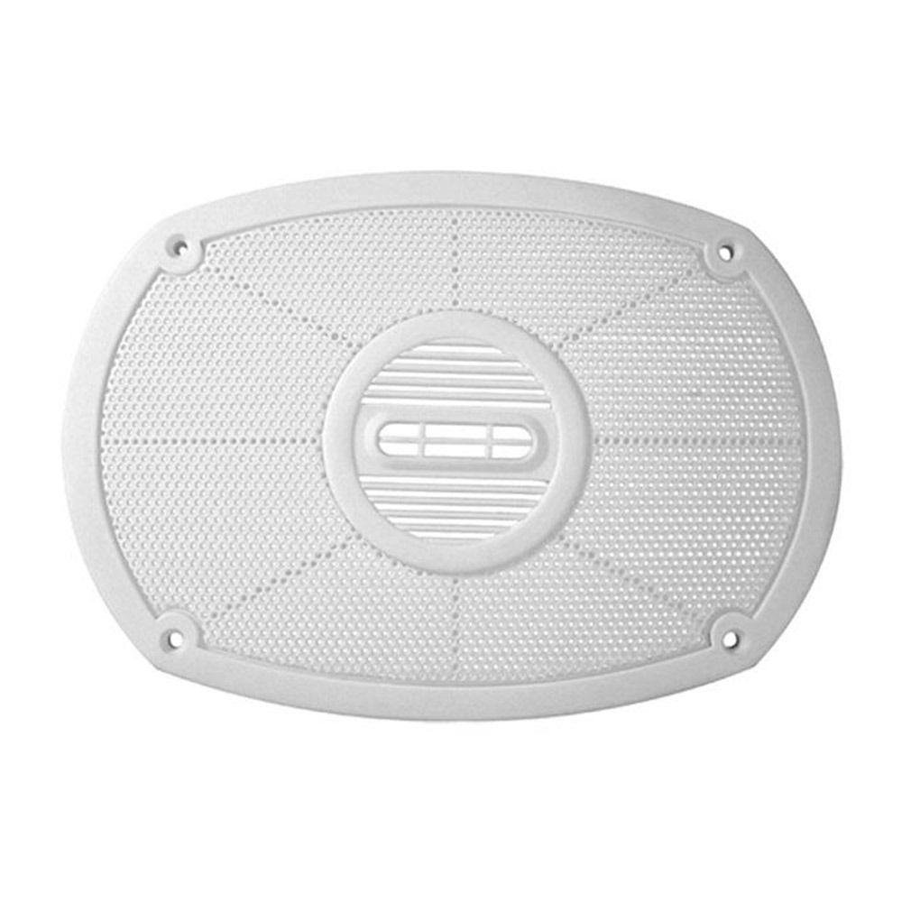 Tela plástica para auto-falante 6x9 na cor branca  - Bunnitu Peças e Acessórios