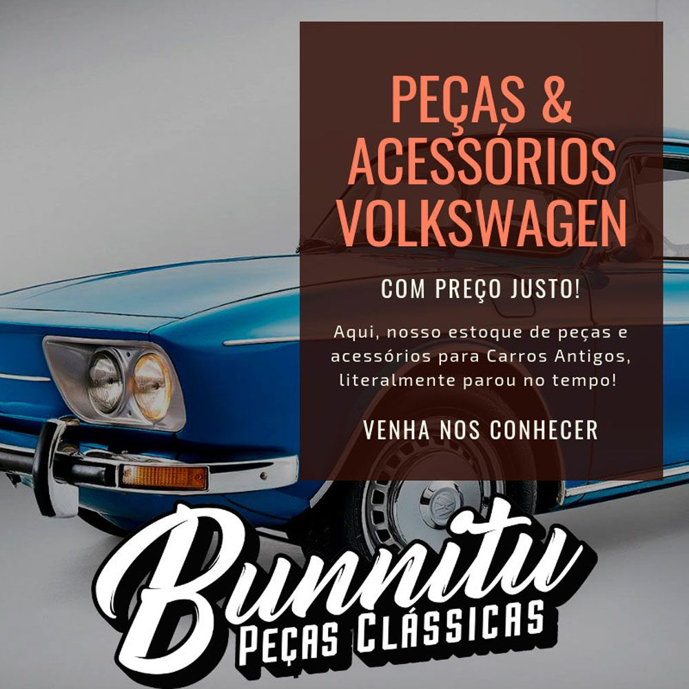 Trinco do quebra vento cromado para VW Brasília e Variant 2 - Lado do Passageiro  - Bunnitu Peças e Acessórios