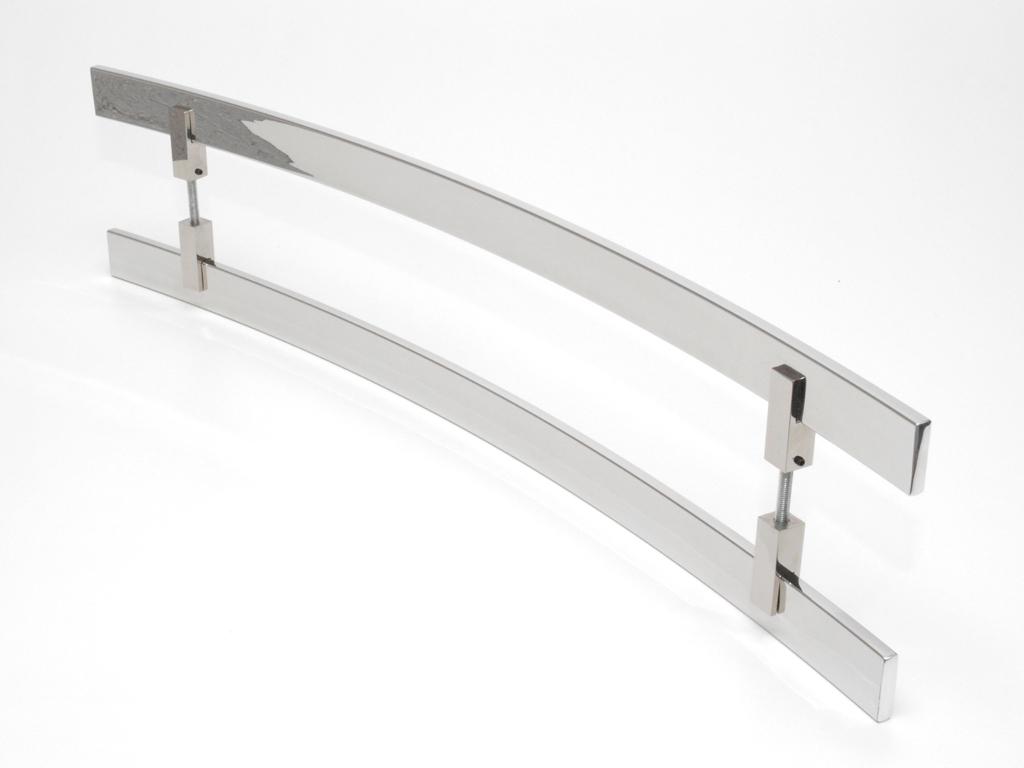Puxador Aço Inox Polido/Cromado Para Porta Vidro Temperado Blindex (SAMURAI)  - Loja do Puxador