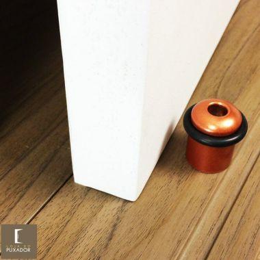 Amortecedor e Batedor de Porta cobre acetinado red gold