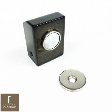 Amortecedor / Prendedor / Batedor / Fixador para porta magnético aço inox Antique Ouro Velho com imã