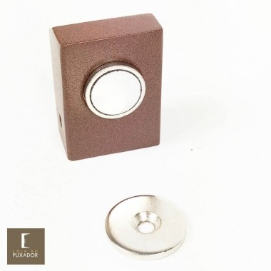 Amortecedor / Prendedor / Batedor / Fixador para porta magnético Aço Inox Corten com imã