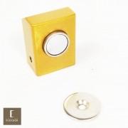 Amortecedor / Prendedor / Batedor / Fixador para porta magnético Aço Inox Dourado Acetinado com imã