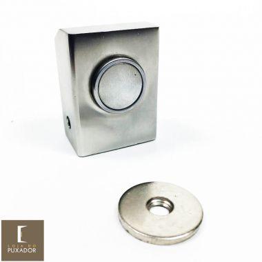 Amortecedor / Prendedor / Batedor / Fixador para porta magnético aço inox escovado com imã
