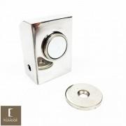 Amortecedor / Prendedor / Batedor / Fixador para porta magnético aço inox polido com imã