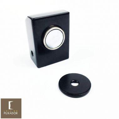 Amortecedor / Prendedor / Batedor / Fixador para porta magnético aço inox Preto com imã