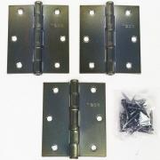 Dobradiça Comum para Porta com Rolamento  3 1/2'' x 3'' Antique Ouro Velho 3 pç Grande até 35kg