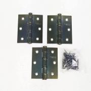 Dobradiça Comum para Porta com Rolamento  3'' x 2 1/2'' Antique Ouro Velho 3 pç Pequeno até 25kg