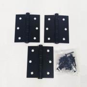 Dobradiça Comum para Porta com Rolamento  3'' x 2 1/2'' Preto Fosco 3 pç Pequeno até 25kg
