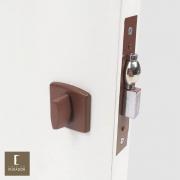 Fechadura AROUCA Para Banheiro WC Trinco Rolete Pivotante 4150/45 COM REGULAGEM INOX CORTEN com Roseta OBILONGO