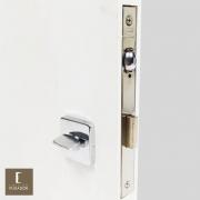 Fechadura IMAB Para Banheiro Trinco Rolete Pivotante 1710-WC com Regulagem Inox Polido Brilhante com Roseta Quadrada