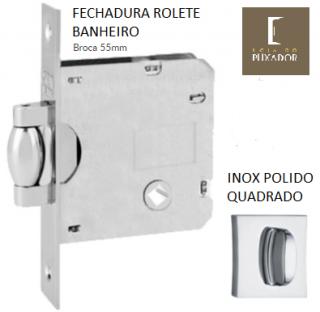 FECHADURA STAM TRINCO ROLETE BANHEIRO INOX POLIDO