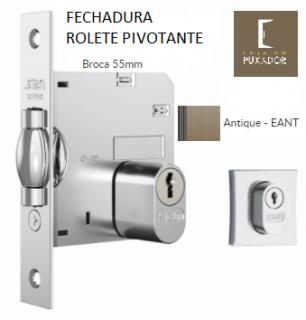 Fechadura STAM Trinco Rolete Pivotante QUADRADA OURO VELHO ANTIQUE 70MM