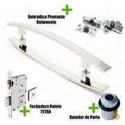 Kit Completo para Porta Pivotante - Puxador 1 Metro Curvo - LUGUI