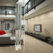 Puxador Aço Inox Polido/Cromado Para Porta Vidro Temperado Blindex (TAURUS EXTRA GRANDE)
