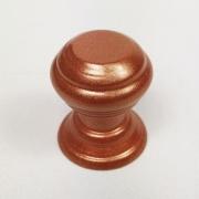 Puxador para Móveis Botão 1 Furo Modelo Kole em Alumínio Cobre Acetinado Red Gold