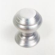 Puxador para Móveis Botão 1 Furo Modelo Kole em Alumínio Escovado Fosco