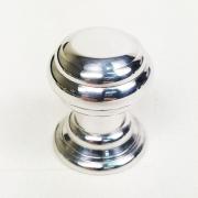 Puxador para Móveis Botão 1 Furo Modelo Kole em Alumínio Polido Brilhante