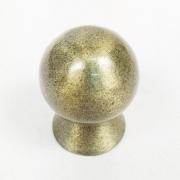 Puxador para Móveis Botão 1 Furo Modelo Light em Alumínio Antique Ouro Velho