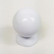 Puxador para Móveis Botão 1 Furo Modelo Light em Alumínio Branco
