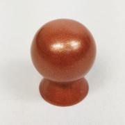 Puxador para Móveis Botão 1 Furo Modelo Light em Alumínio Cobre Acetinado Red Gold
