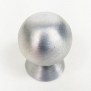 Puxador para Móveis Botão 1 Furo Modelo Light em Alumínio Escovado Fosco