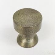 Puxador para Móveis Botão 1 Furo Modelo Lince em Alumínio Antique Ouro Velho