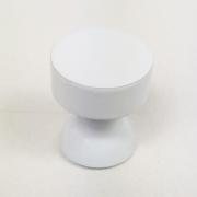 Puxador para Móveis Botão 1 Furo Modelo Lince em Alumínio Branco