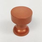 Puxador para Móveis Botão 1 Furo Modelo Lince em Alumínio Cobre Acetinado Red Gold