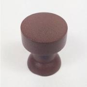 Puxador para Móveis Botão 1 Furo Modelo Lince em Alumínio Corten