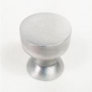 Puxador para Móveis Botão 1 Furo Modelo Lince em Alumínio Escovado Fosco