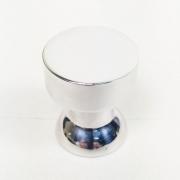 Puxador para Móveis Botão 1 Furo Modelo Lince em Alumínio Polido Brilhante