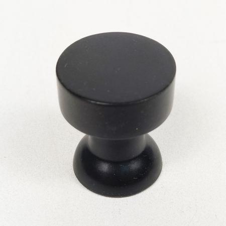 Puxador para Móveis Botão 1 Furo Modelo Lince em Alumínio Preto Fosco