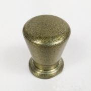 Puxador para Móveis Botão 1 Furo Modelo Pine em Alumínio Antique Ouro Velho