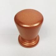 Puxador para Móveis Botão 1 Furo Modelo Pine em Alumínio Cobre Acetinado Red Gold