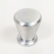 Puxador para Móveis Botão 1 Furo Modelo Pine em Alumínio Escovado Fosco
