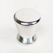 Puxador para Móveis Botão 1 Furo Modelo Pine em Alumínio Polido Brilhante