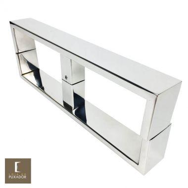 Puxador para Porta de Vidro 1 Furo 30 cm em Aço Inox 304 Polido Brilhante (PUX300)