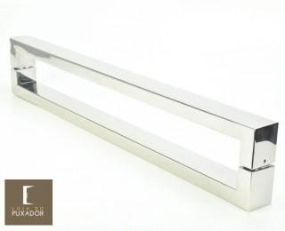 Puxador Para Portas Duplo AÇO INOX 304  POLIDO extra largo (HÉRCULES).