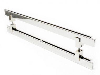 Puxador Para Portas Duplo AÇO INOX  304 POLIDO (AQUARIUS)