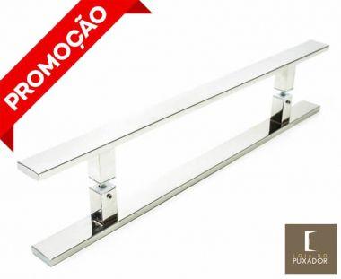 Puxador Para Portas Duplo AÇO INOX 304 POLIDO (CLEAN).