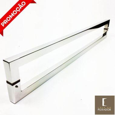 Puxador Para Portas Duplo AÇO INOX 304 POLIDO (SLIN).