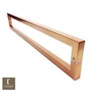 Puxador Para Portas Duplo em Aço Inox 304 Modelo Slin Cobre Acetinado para portas: pivotantes/madeira/vidro temperado/porta alumínio e portões