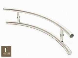 Puxador Para Portas Duplo AÇO INOX ESCOVADO (BELÍSSIMA) Para portas Pivotante /Madeira /Vidro/Alumínio .