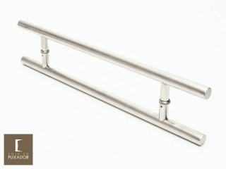 Puxador Para Portas Duplo AÇO INOX ESCOVADO (SOFT). Para portas Pivotante /Madeira /Vidro/Alumínio .