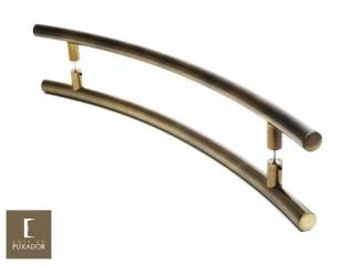 Puxador Para Portas Duplo AÇO INOX OURO VELHO ANTIQUE (SOLARES). Para portas Pivotante /Madeira /Vidro/Alumínio .