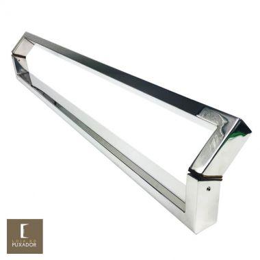 Puxador Para Portas Duplo Aço Inox 304 Modelo Style Polido Brilhante para portas: pivotantes/madeira/vidro temperado/porta alumínio e portões